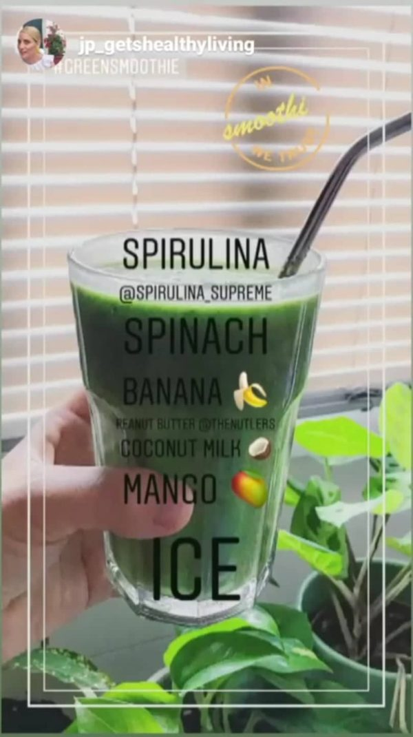 spirulina supreme in smoothie we trust