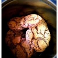 Chokolade cookies, skøn til eftermiddags kaffen.