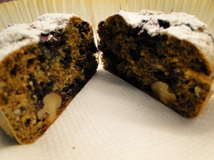 Blåbærmuffins med valnøtter