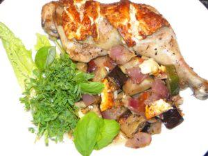 Ovnsbakt kylling med feta