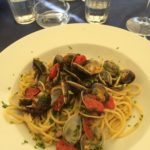 Vongole and cherry tomatoes
