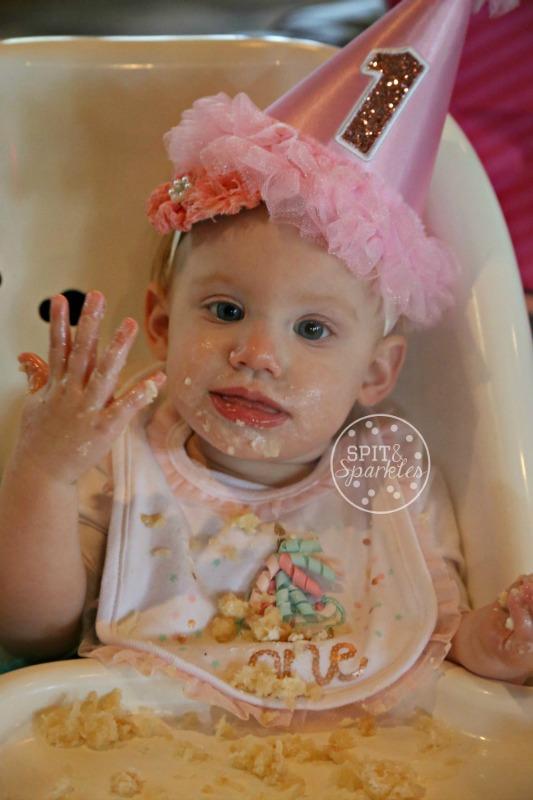 Harper's first birthday, Spit and Sparkles Blog, third baby, little pumpkin, turning one