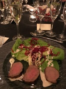 Ruinart Blanc de Blancs with seared loin of lamb