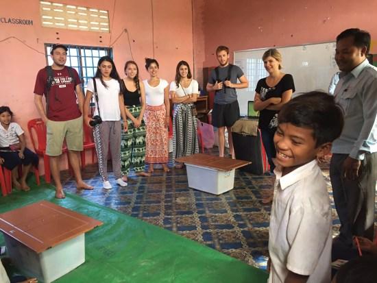 Introductions between Spitler students and Berkley team