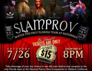 Slamprov flyer with Chunky, Spittfiya Chunk, Dada's National Slam Poetry Team