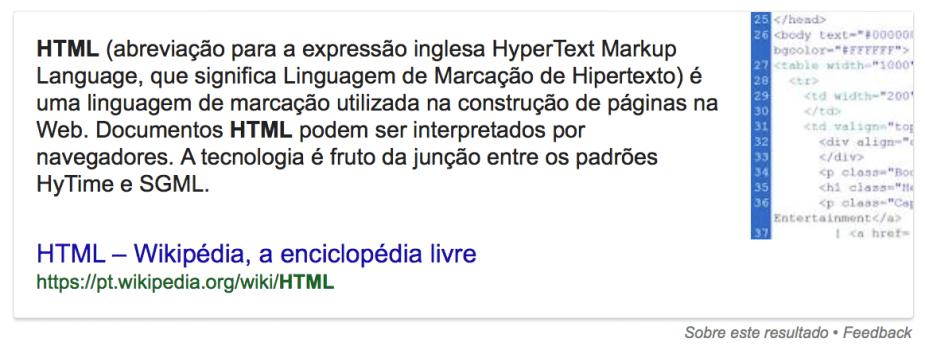 O que é HTML?