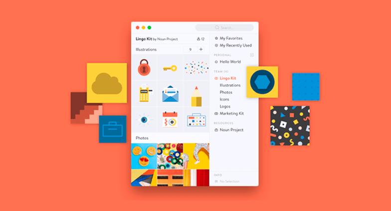 Organize todos os seus elementos visuais com o Lingo