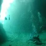 真栄田岬、青の洞窟