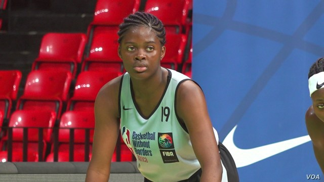 Vanessa, a 16-year-old basketball player from Cameroon, says she is looking forward to returning home and sharing what she has l