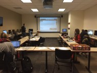 The attendees all had the chance to work on their profiles during the workshop.