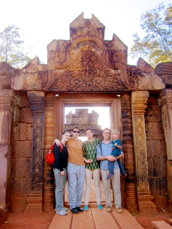 "This is Banteay Srei, aka ""The Ladies' Temple""."