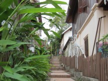 Alley in Luang Prabang.