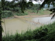 This is one of two bamboo bridges built during dry season only.