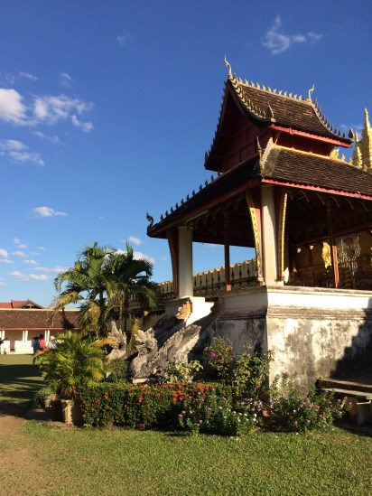 Awesome creatures out in front of the Vientiane Great Stupa.