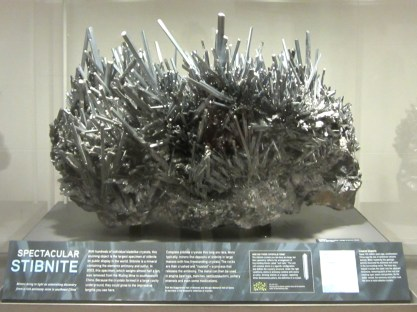 There are some awesome minerals at the Museum of Natural History.
