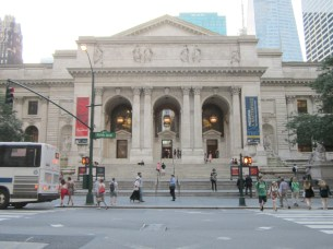 The New York Public Library. (Stay tuned for a photo of one of the famous Lions.)