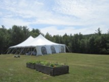 Tent rented for wedding.