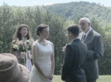 My husband's brother and his fiancee, exchanging vows.