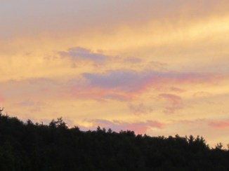 Clouds at sundown.