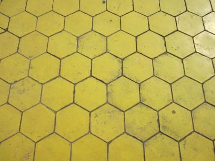 Sidewalk tiles.