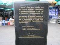 Central market building plaque.