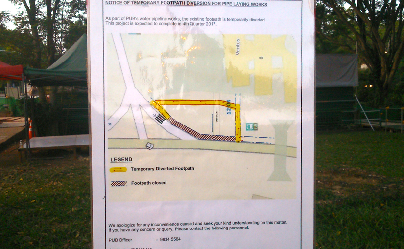 Temporary footpath diversion