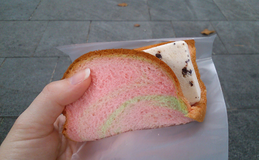 Singapore ice-cream sandwich (literally)