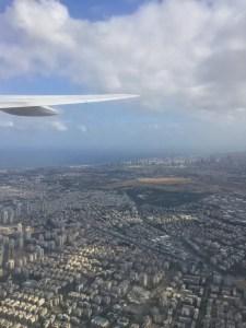 Flying over Tel Aviv