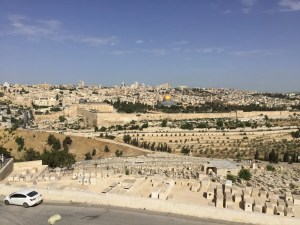 Mount of Olives showing Jewish cemetery