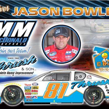 MM McDonald Motor Sports Racing Postcards