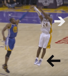 kobe shooting form shoulders and feet