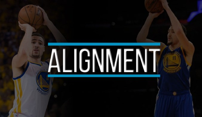 klay thompson shooting form alignment