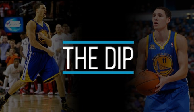 klay thompson shooting form dip