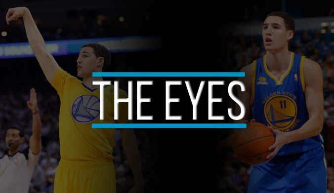 klay thompson shooting form - eyes