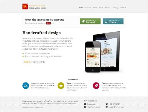 Bootstrap Splash Page Template