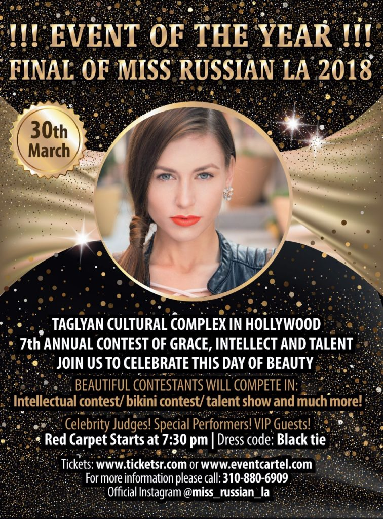 7th Annual Miss Russian LA – Celebrating the Beauty and