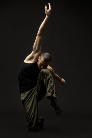 "Hubbard Street Main Company Dancer Andrew Murdock in ""III.Third"" by Rena Butler; photo by Todd Rosenberg"
