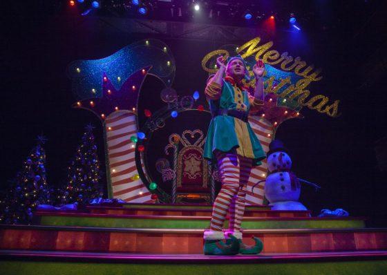An elf sings.