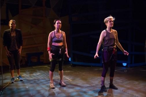 Three women onstage