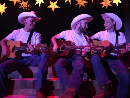Three men with guitars