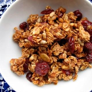 Homemade cranberry granola