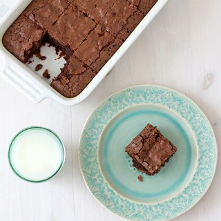 For when the moon is blue: Chewy chocolate brownies