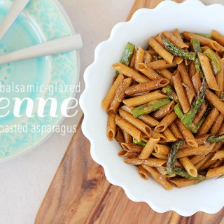The missing zing: Balsamic-glazed penne with roasted asparagus
