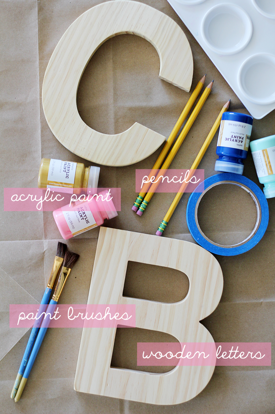 how to paint letters on wood diy painted wooden letters splash of something 10167