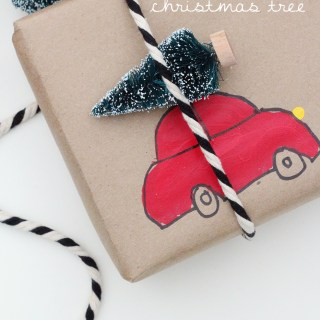 wrapping diy car tree