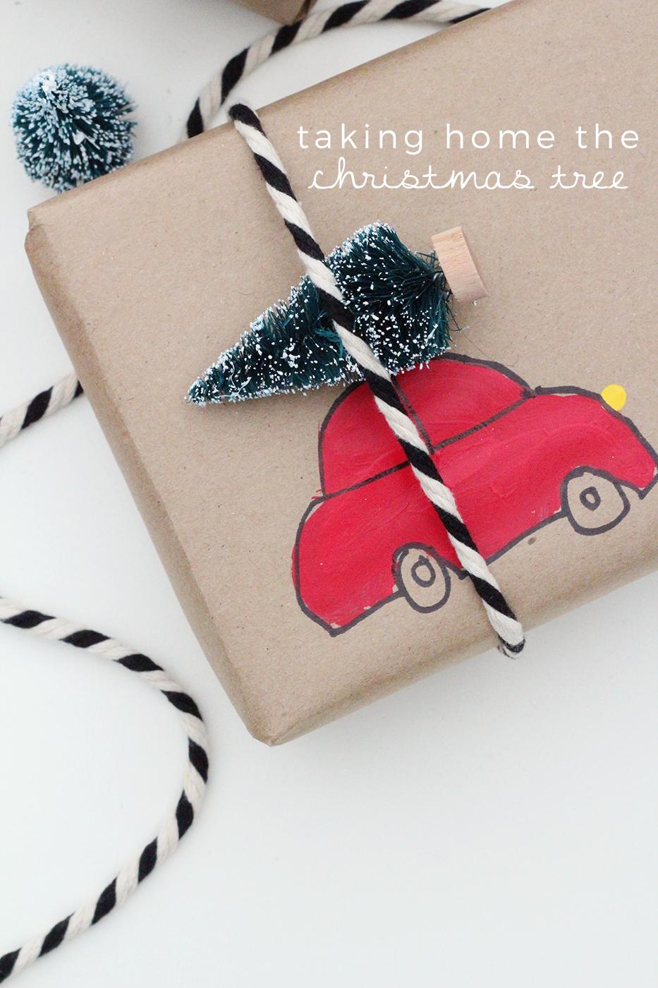 wrapping diy car tree