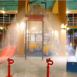 Splash Bucket At Night