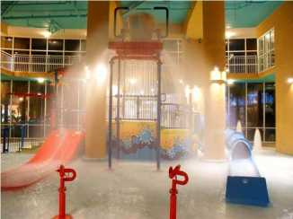 Splash Bucket At Night