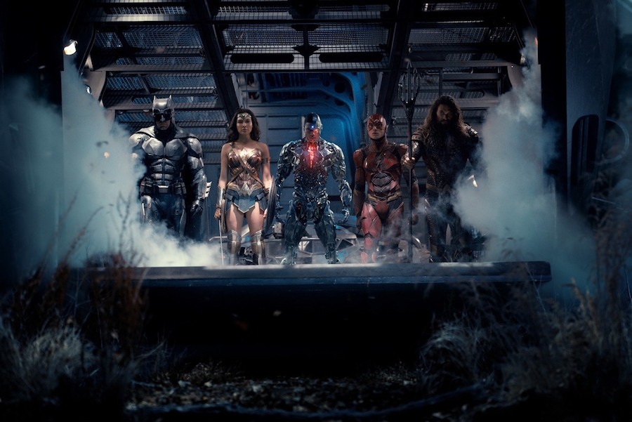 Zack Snyder Shares A Behind The Scenes Photo Of Batman Possibly Fighting Some Parademons In JUSTICE LEAGUE
