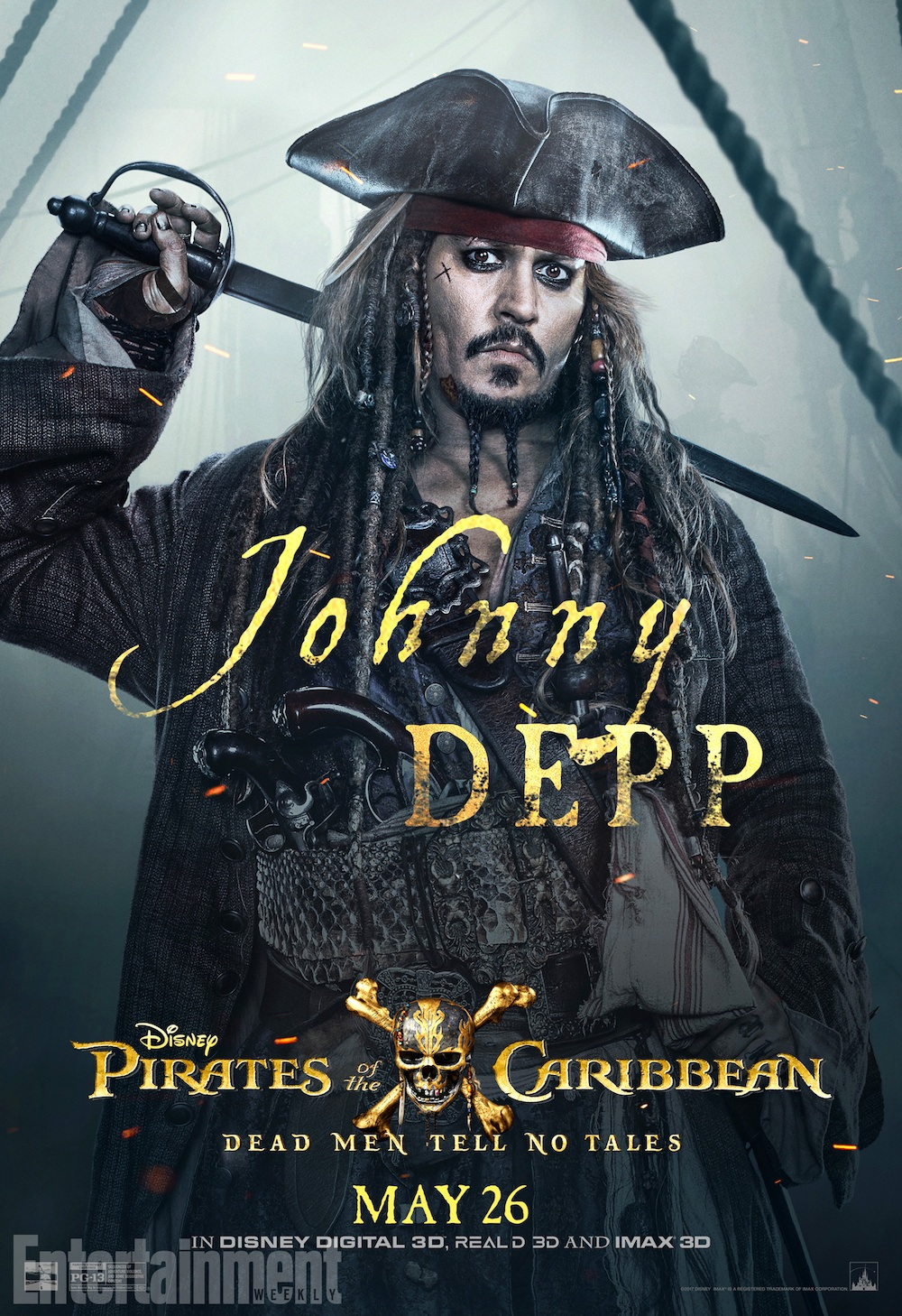 Disney Button PIRATES OF THE CARIBBEAN 5 Dead Men Tell No Tales May 2017 Opening